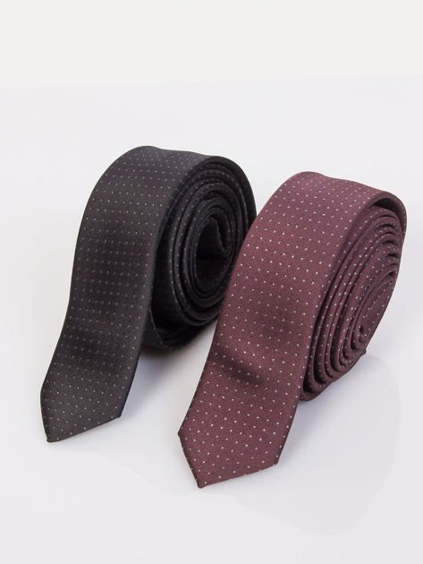 Krawat męski we wzory 5-pak wielokolorowy                              zdj.                              5