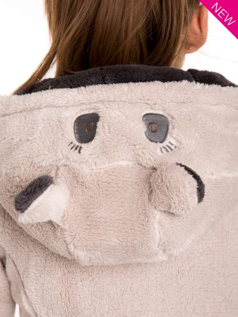 Kremowa polarowa bluza miś z kapturem z uszkami                                  zdj.                                  8