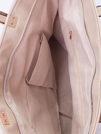 Kremowa prosta torba shopper bag                                  zdj.                                  5