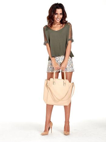 Kremowa torba shopper bag                                  zdj.                                  2