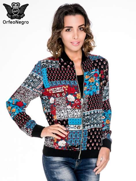 Kurtka bomber jacket w patchworkowe wzory                                  zdj.                                  1