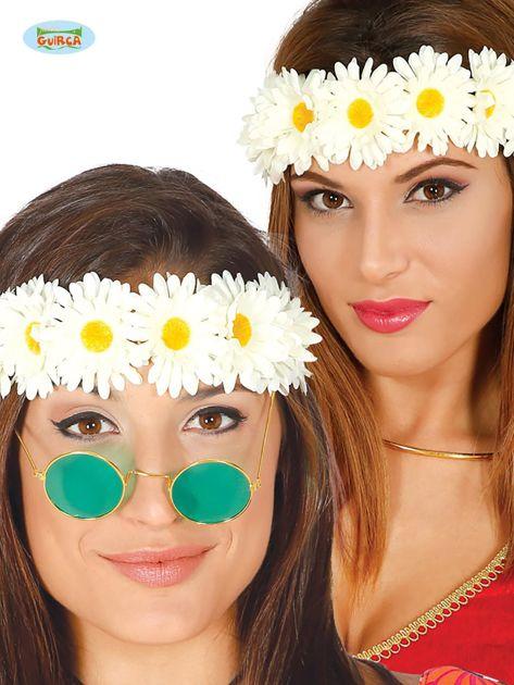 Kwiatowa opaska damska na głowę hippisowska                              zdj.                              1