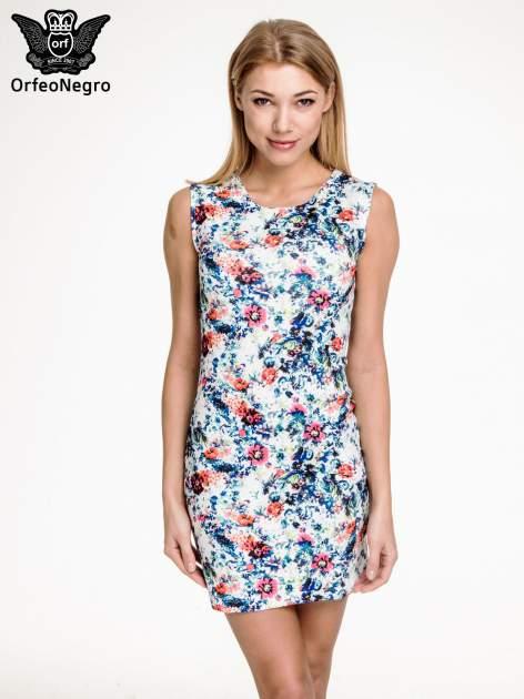 Kwiatowa prosta mini sukienka                                  zdj.                                  1