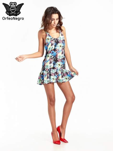 Kwiatowa sukienka z falbaną                                  zdj.                                  9