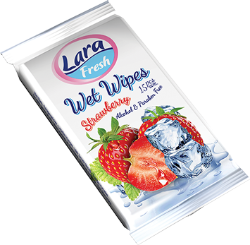 LARA Nawilżane chusteczki o zapachu owocowym 15 szt                              zdj.                              1