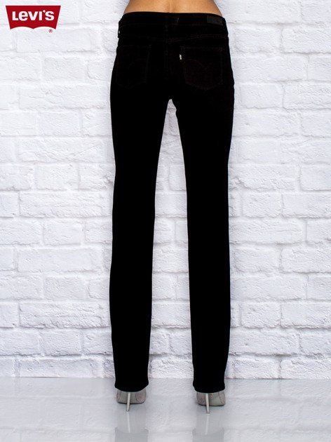 LEVIS Czarne jeansy straight                              zdj.                              2