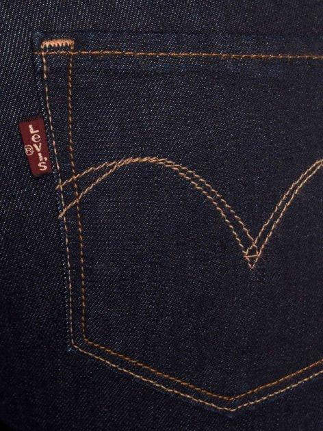 LEVIS Granatowe jeansy skinny                               zdj.                              3