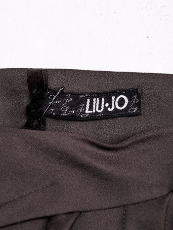 LIU JO Brązowa spódnica z zakładkami                                  zdj.                                  4
