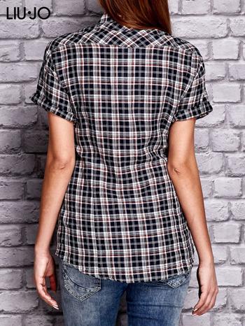 LIU JO Granatowa koszula w kratkę