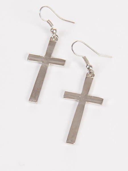 LOLITA Kolczyki damskie Krzyże srebrne 4 cm                              zdj.                              2