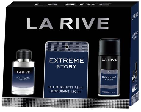 "La Rive La Rive for Men Extreme Story Zestaw/edt75ml+deo150ml/"""