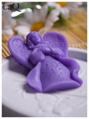 LaQ Mydełko Mały aniołek - fioletowy / Zapach - lawenda BEZ SLS i SLES                                  zdj.                                  1