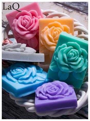 LaQ Mydełko Róża w prostokącie - zielony / Zapach - jabłko i orzech BEZ SLS i SLES                              zdj.                              2
