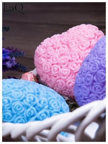 LaQ Mydełko Wielkie serce - niebieski / Zapach - wata cukrowa BEZ SLS i SLES                                  zdj.                                  3
