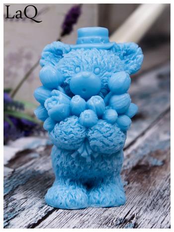 LaQ Mydełko duże Miś z bukietem - niebieski / Zapach - wata cukrowa BEZ SLS i SLES                                  zdj.                                  1