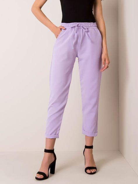 Liliowe spodnie Unique RUE PARIS