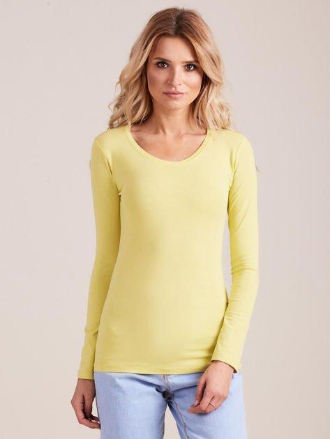 Limonkowa bluzka z długim rękawem                              zdj.                              1