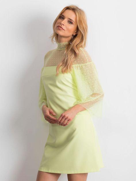 Limonkowa sukienka Modern                              zdj.                              3