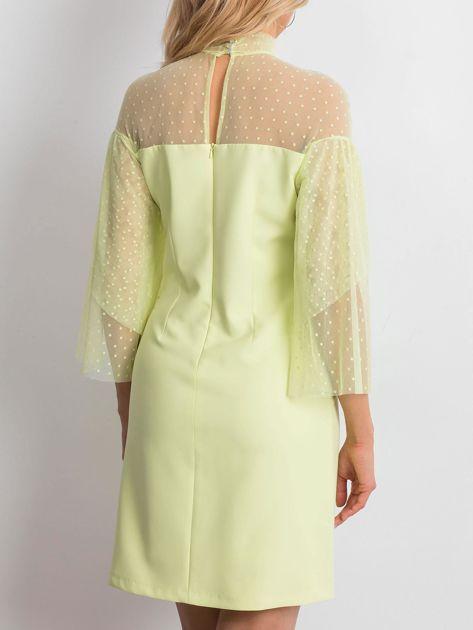 Limonkowa sukienka Modern                              zdj.                              2