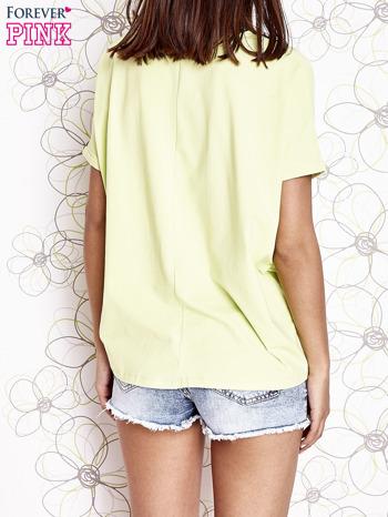 Limonkowy t-shirt oversize                                  zdj.                                  4