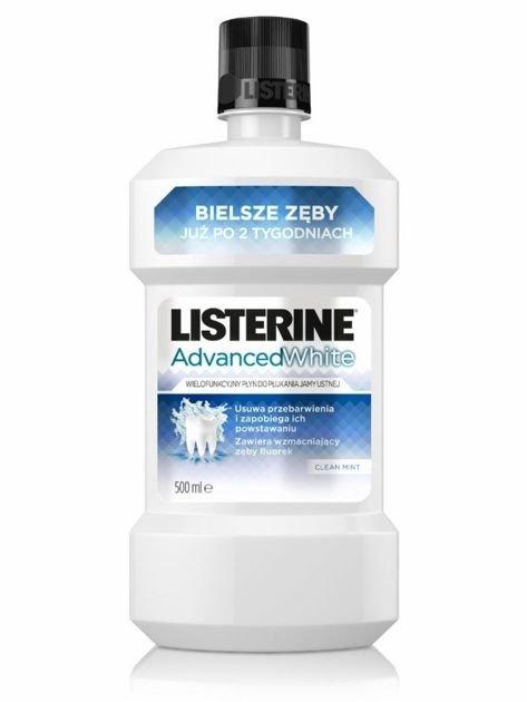 "Listerine Advanced White Płyn do płukania jamy ustnej 500ml"""