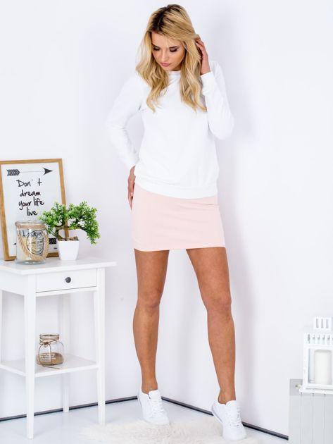 Łososiowa dresowa spódnica mini                              zdj.                              4