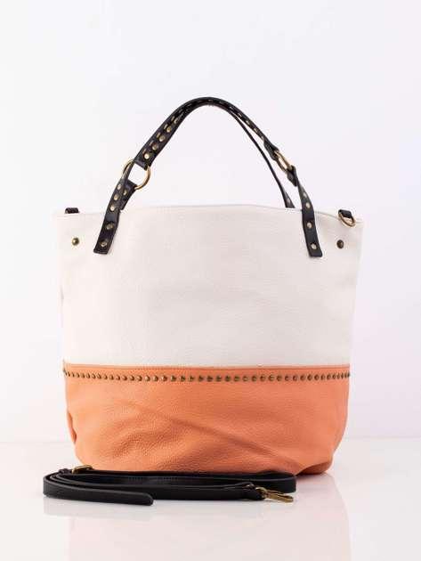 Łososiowa pojemna torba