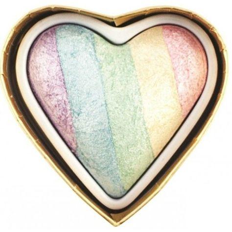 MAKEUP REVOLUTION Rozświetlacz wypiekany Unicorns Heart Baked Highlighter 10g                              zdj.                              3