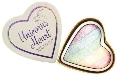MAKEUP REVOLUTION Rozświetlacz wypiekany Unicorns Heart Baked Highlighter 10g                              zdj.                              2