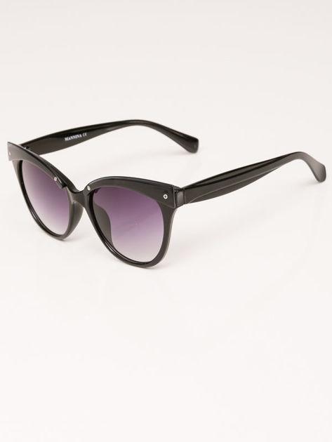 MANINA Okulary przeciwsłoneczne damskie czarne szkło szaro-fioletowe dymione                              zdj.                              6