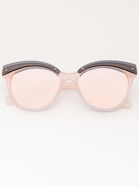 MANINA Okulary przeciwsłoneczne damskie różowe szkło różowe lustrzanka                              zdj.                              1