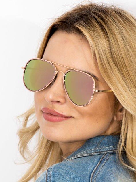 MANNINA Okulary lustrzanki przeciwsłoneczne + miękkie etui gratis                              zdj.                              1