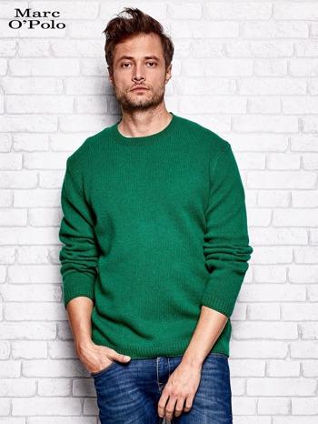 MARC O'POLO Zielony dzianinowy sweter męski                                  zdj.                                  1