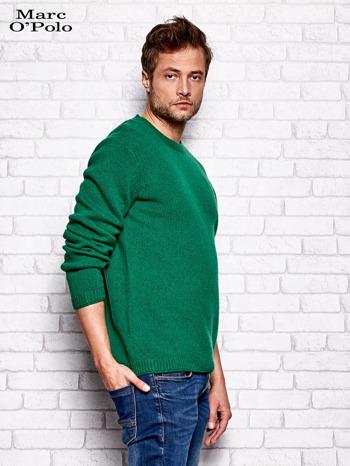 MARC O'POLO Zielony dzianinowy sweter męski                                  zdj.                                  2