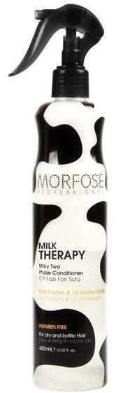 MORFOSE MILK THERAPY 2-FAZOWA ODŻYWKA mleczna bez spłukiwania nawilżająco-ochronna 400 ml