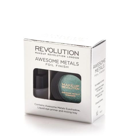 """Makeup Revolution Awesome Metals Foil Finish Cień do powiek metaliczny+podkład Emerald Goddes  6g"""""""