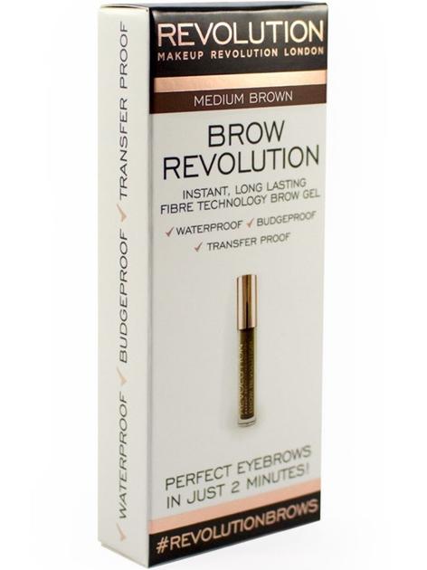Makeup Revolution Brow Revolution Żel do brwi Medium Brown 3.8g