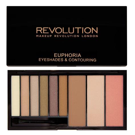 Makeup Revolution Euphoria Palette Bronzed Zestaw do makijażu oczu i twarzy