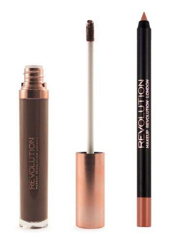 Makeup Revolution Retro Luxe Gloss Lip Kit Zestaw do ust konturówka 1g + matowa pomadka w płynie 5,5ml Glory                              zdj.                              4