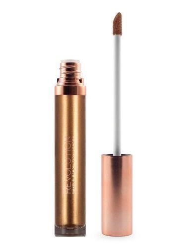 Makeup Revolution Retro Luxe Metallic Lip Kit Zestaw do ust konturówka 1g + pomadka w płynie 5,5ml Empress                               zdj.                              3