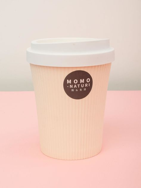 Mały plastikowy kosz na śmieci Kubek Do Kawy ecru                              zdj.                              1