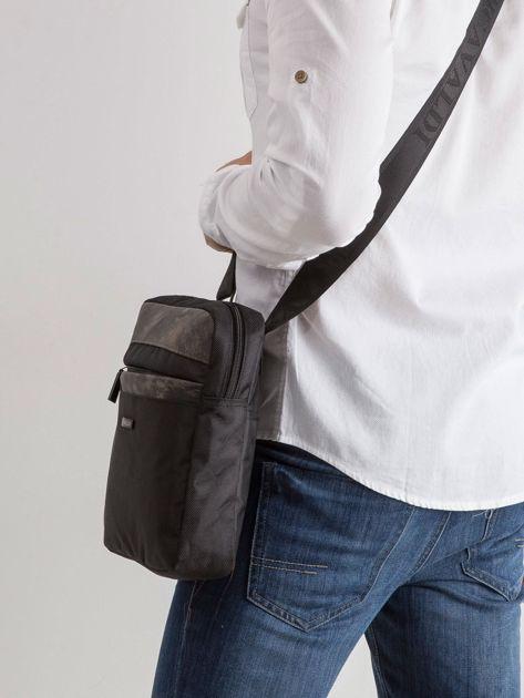 Materiałowa torba męska czarna                              zdj.                              3