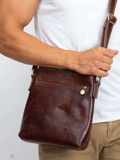 Męska torba skórzana brązowa                              zdj.                              3