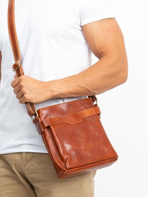 Męska torba skórzana camelowa                              zdj.                              1