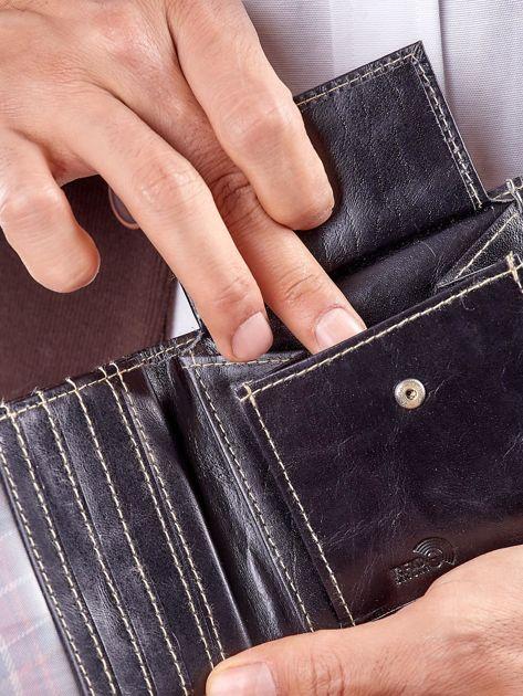Męski portfel czarny ze skóry                              zdj.                              7