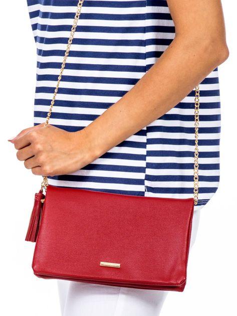 Miękka czerwona torebka z chwostem                              zdj.                              2