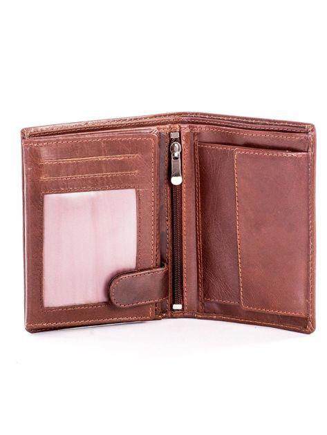 Miękki portfel ze skóry naturalnej brązowy                               zdj.                              4