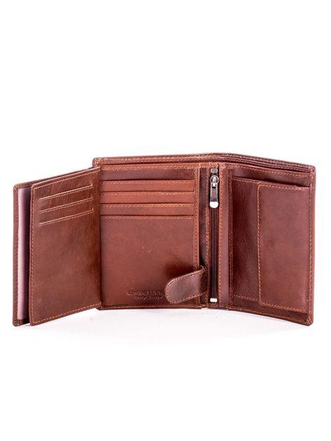 Miękki portfel ze skóry naturalnej brązowy                               zdj.                              6