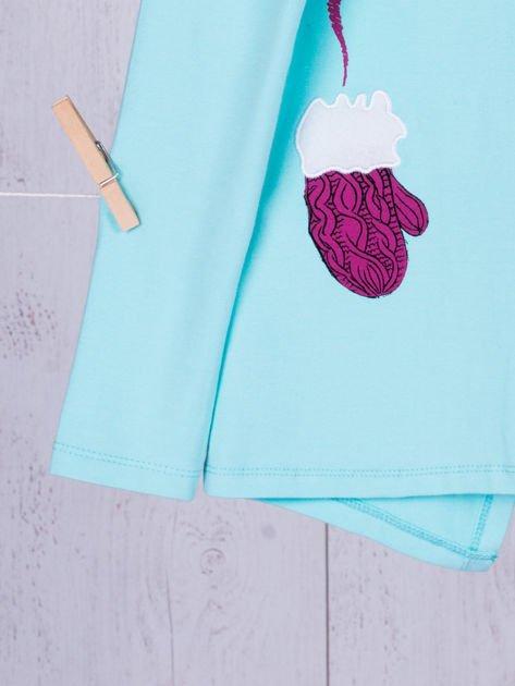 Miętowa bawełniana bluzka dla dziewczynki                               zdj.                              11