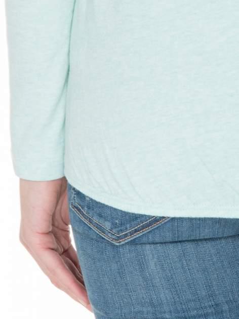Miętowa bawełniana bluzka z gumką na dole                                  zdj.                                  6